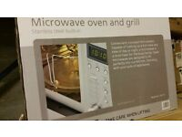 Caple CM116 stainless steel integrated tower microwave oven and grill. Two available, Brand New
