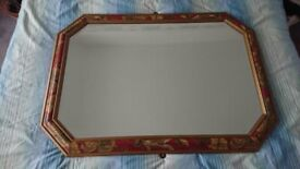 large mirror 40 inches x 29 inches. Burgundy and gold. very good condition. must be able to collect