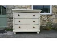 Large antique chest of drawers (Free Local Delivery)