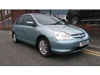 2001 (Y reg), Hatchback Honda Civic 1.6 i VTEC SE Executive 5dr £450