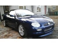 mg mgf freestyle convertible sports