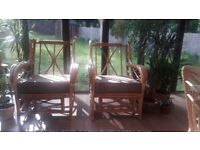 2 Cane chairs