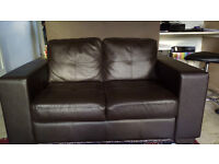 2 Two seater faux leather sofa from Harveys