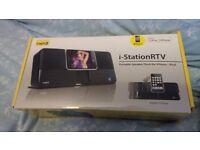 i-StationRTV Portable Speaker Dock for iPhone/iPod
