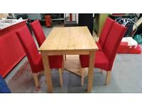 Oak Dinning with 4 Chairs