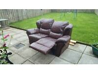 2 seater recliner chair sofa leather