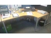 Straight Legged Corner Desks x 4