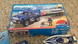 Playmobil Police city van and speed boat with underwater motor 5187