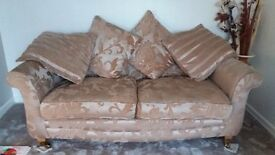 Three seater sofa and armchair in excellent condition