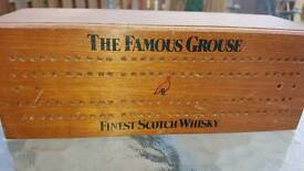 Cribbage set with dominoes in THE FAMOUS GROUSE BOX.