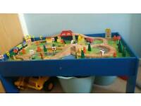 Chad valley wooden train table