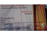Michael fox scaffolding for all your scaffolding requirements, for your free quote call 07795432152