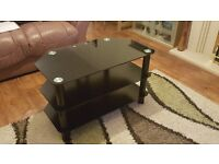 Black Glass 3 Tier Television Stand - Excellent Condition