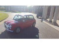 Classic Mini Cooper 1997 Red, Union Jack. Classic interior