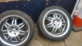 17 inch Momo Alloy deep dish 4x100 pcd wheels will fit corsa d , mx5 , micra etc