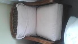 dark oak wood armchair