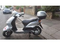 Piaggio Fly 100cc scooter excellent condition + 12 months MOT + USB charging: £875 ONO