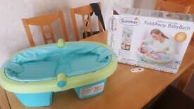 NEW Summer Infant Newborn to Toddler Folding Bath - Blue