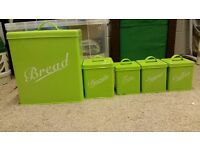 Green kitchen storage containers