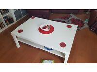 Large white ikea coffee table