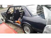 Bmw e28 520i rolling shell project restoration restoring conversion breaking spares m535i 525e