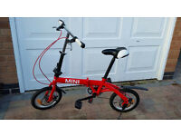 Red folding bike
