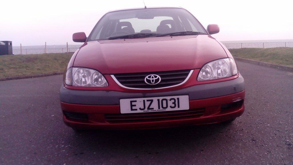 TOYOTA AVENSIS.......MAROON......2002........MOT DEC 2018.......4 DOOR ......5 SPEED......TOWBAR