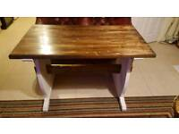 Shabby Chic Hand Painted Rustic Pine Table Hall Dining