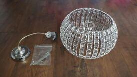 Crystal look ceiling lamp