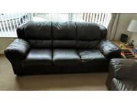 Leather Settee Sofa Chair