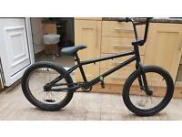 """Bmx stunt bike. 20"""" wheels. No brakes. . Big fat tyres. Small crank."""