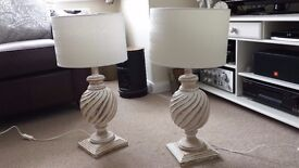 2 Solid Wood Table Lamps.