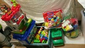 Large Amount of Mega Bloks, In The Night Garden, Castle, Bus, Police Station and more