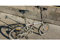 collapsible bicycle bike-in-a-bag 15kg 20inch alloy wheels 5 gears steel frame alloy