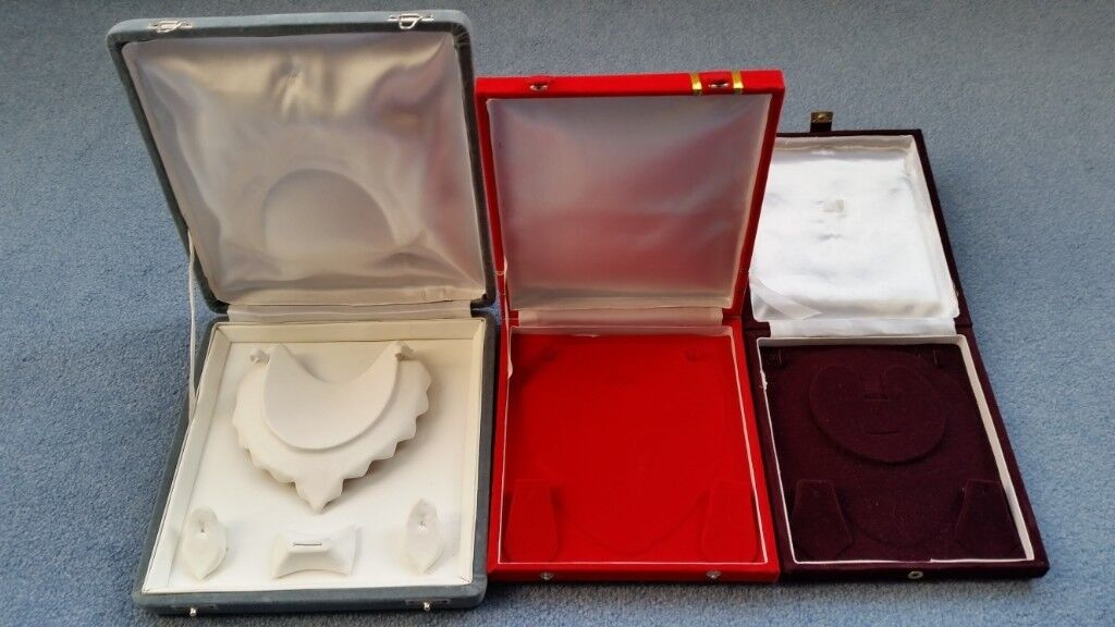 5ad1d6d38 3 Jewellery Boxes,Necklace+Ear rings+Ring(only for the Grey one),Great  condition,Contact me asap,£10
