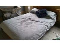 IKEA Malm double bed and Hokkasen mattress
