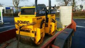 Bomag Vibrating Double Drum Ride On Tarmac Roller