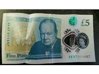 AK47 NEW £5 NOTE