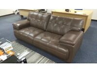 2 Brown Leather Sofas (3 seat & 2 seat) originally from SCS