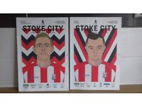 TWO STOKE CITY HOME MATCHDAY MAGAZINE'S - v LIVERPOOL PLAYED 29/11/2017 & v MAN UNITED 09/09/2017