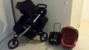 STEELCRAFT STRIDER PLUS DOUBLE Pram + STEELCRAFT CAR CAPSULE/BASE Coombabah Gold Coast North Preview