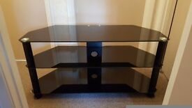 Black TV stand Like new