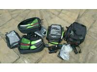Kawasaki Oxford Expandable Soft Motorbike Luggage Pannier Set
