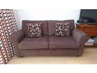 3 Seater Sofa Bed - Sturdy Metal Frame & Coil Sprung Mattress