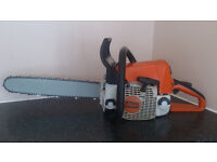 """( stihl ms250 chainsaw year 2008 ) with brand new 16"""" bar and chain"""