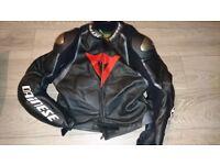 Size 50 Dainese 2 piece motorbike leathers