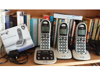 BT4500 TRIO DIGITAL CORDLESS TELEPHONE ANSWERING MACHINE