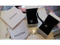 PANDORA 2 CHARMS BRAND NEW 925 SILVER ( ALE ) CLEAR TO SEE AUTHENTIC GENUINE 22.00 FOR BOTH
