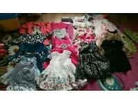 Bundle of girls dresses size 18-24 months