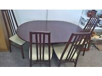 FOLDING DINING TABLE 4 CHAIRS